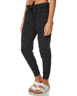 BLACK AND WHITE WOMENS CLOTHING SILENT THEORY PANTS - 6090039STR