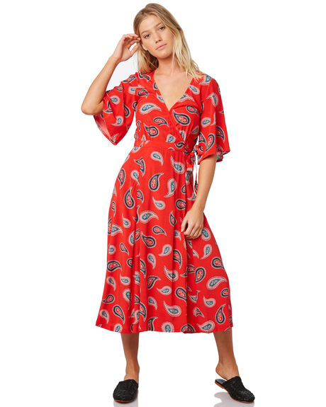RED WOMENS CLOTHING TIGERLILY DRESSES - T381428RED
