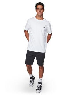 WHITE MENS CLOTHING RVCA TEES - RV-R107046-WHT