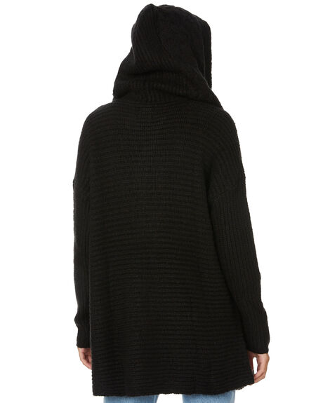 BLACK WOMENS CLOTHING VOLCOM KNITS + CARDIGANS - B0711979BLK
