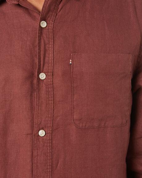 WASHED BERRY MENS CLOTHING ACADEMY BRAND SHIRTS - 22S801WSBRY