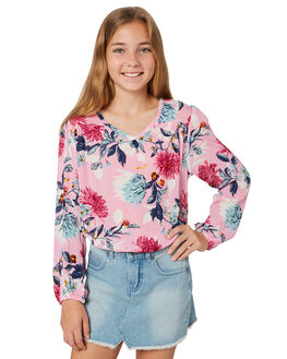 SUNSET PINK KIDS GIRLS BILLABONG TOPS - 5581091PNK
