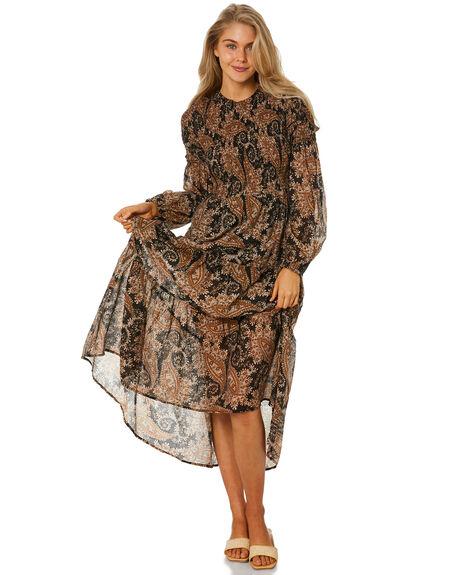 BLACK BROWN WOMENS CLOTHING MINKPINK DRESSES - MG2103562BKBRN