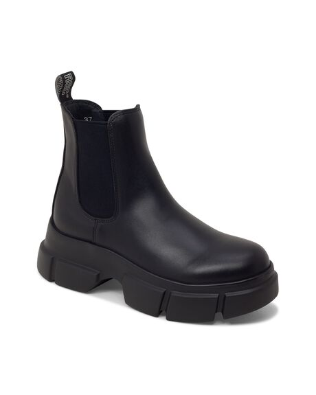 BLACK LEATHER WOMENS FOOTWEAR ROC BOOTS BOOTS - ROOKIEWL-BLKFG-36