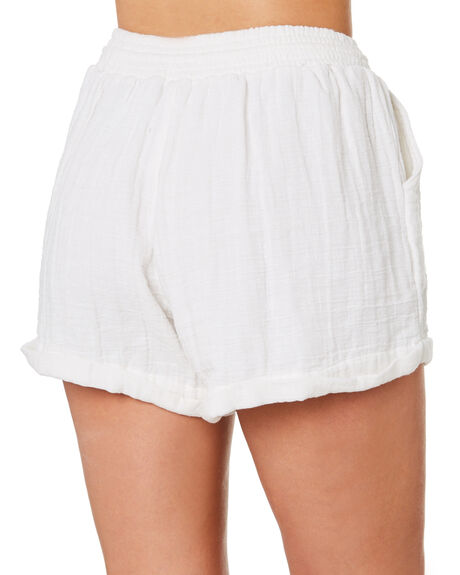 WHITE OUTLET WOMENS RHYTHM SHORTS - OCT19W-WS04-WHT