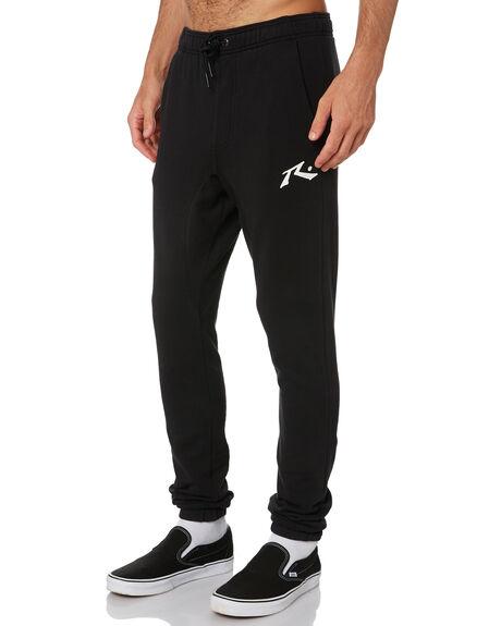 BLACK MENS CLOTHING RUSTY PANTS - PAM1018BLK
