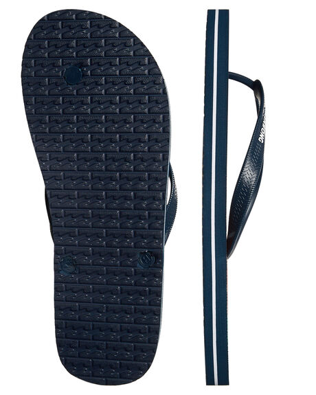 NAVY MENS FOOTWEAR BILLABONG THONGS - 9672930NVY