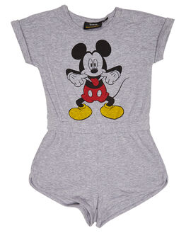 GREY MARLE KIDS TODDLER GIRLS ROCK YOUR BABY PLAYSUITS + OVERALLS - TGB1840-DGMARL
