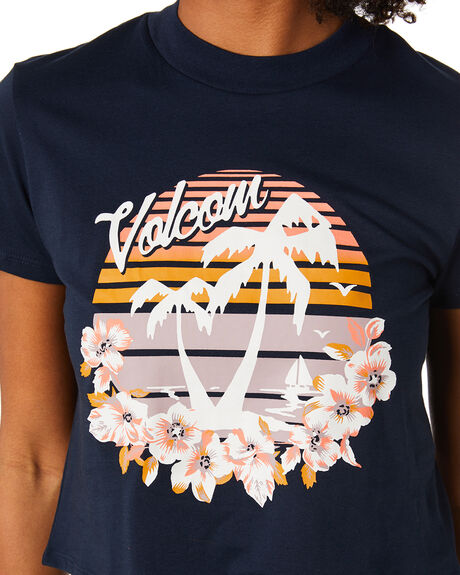 SEVENTIES  NAVY OUTLET WOMENS VOLCOM TEES - B3502000SNV