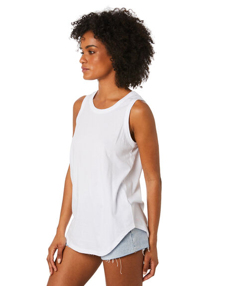 WHITE WOMENS CLOTHING BETTY BASICS SINGLETS - BB266WHT