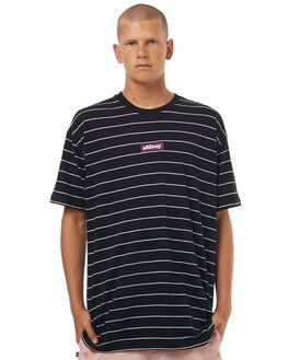 BLACK MENS CLOTHING STUSSY TEES - ST072101BLK