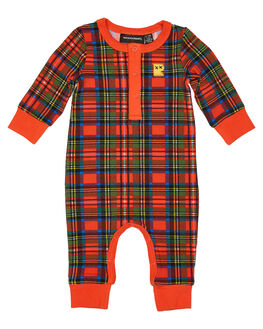 RED TARTAN KIDS BABY ROCK YOUR BABY CLOTHING - BBB1963-TRRED