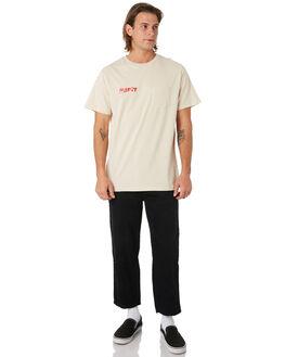 WARM WHITE MENS CLOTHING MISFIT TEES - MT091001WRMWH