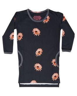 SOFT BLACK KIDS TODDLER GIRLS MUNSTER KIDS DRESSES - MM162DR04BLK