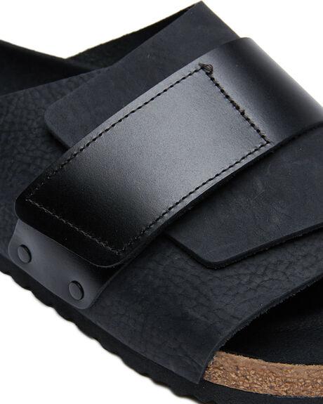 BLACK MENS FOOTWEAR BIRKENSTOCK SLIDES - 1017788BLK