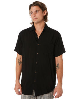 BLACK MENS CLOTHING THE PEOPLE VS SHIRTS - SSSTEVIE-BLK