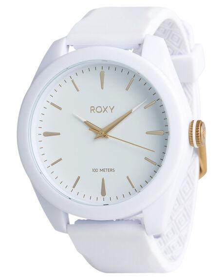 WHITE YELLOW GOLD WOMENS ACCESSORIES ROXY WATCHES - ERJWA03026XWYW