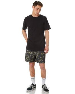 PIRATE BLACK MENS CLOTHING RVCA TEES - R181066PRBLK
