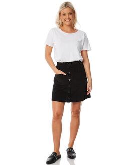 BLACK WOMENS CLOTHING RUE STIIC SKIRTS - SW18-11-1BKBLK