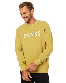 MUSTARD YELLOW MENS CLOTHING BANKS JUMPERS - WFL0081MYL