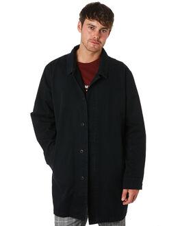 BLACK MENS CLOTHING THRILLS JACKETS - TA9-217BBLK