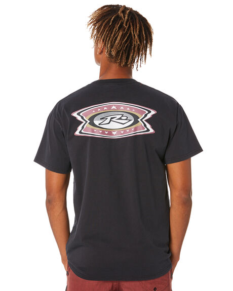 BLACK MENS CLOTHING RUSTY TEES - TTM2478BLK