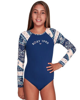 MED BLUE NEWPORT KIDS GIRLS ROXY SWIMWEAR - ERGWR03129-BTE7
