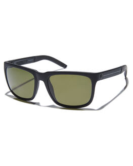 MATTE BLACK STRIPE MENS ACCESSORIES ELECTRIC SUNGLASSES - EE15165242MBKBS