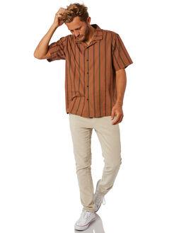 LIGHT BROWN MENS CLOTHING KATIN SHIRTS - WVHER02LBRN