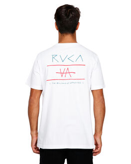 WHITE MENS CLOTHING RVCA TEES - RV-R191047-WHT