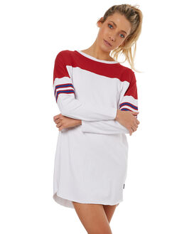 WHITE WOMENS CLOTHING RUSTY DRESSES - DRL0904WHT