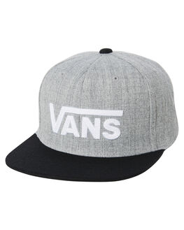 HEATHER GREY BLACK MENS ACCESSORIES VANS HEADWEAR - VNA36ORHGBGRY