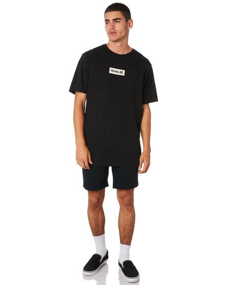 BLACK WHITE MENS CLOTHING HURLEY TEES - AJ1777011