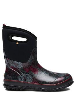 BLACK MULTI WOMENS FOOTWEAR BOGS FOOTWEAR BOOTS - 972033011