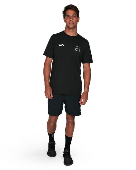 BLACK MENS CLOTHING RVCA TEES - RV-R307043-BLK