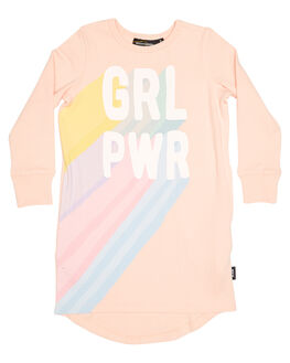 PEACH KIDS TODDLER GIRLS ROCK YOUR BABY DRESSES - TGD1840-GPPCH