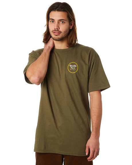 OLIVE MENS CLOTHING BRIXTON TEES - 06452OLIVE