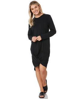 BLACK WOMENS CLOTHING SILENT THEORY DRESSES - 6015011BLK