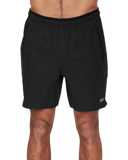 BLACK MENS CLOTHING RVCA SHORTS - RV-R393313-BLK
