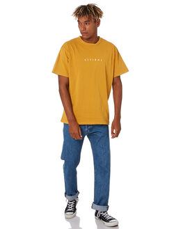 SUNLIGHT YELLOW MENS CLOTHING THRILLS TEES - TS9-101KSNYEL