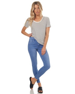 VISIONARY BLUE WOMENS CLOTHING RIDERS BY LEE JEANS - R-551314-DP3