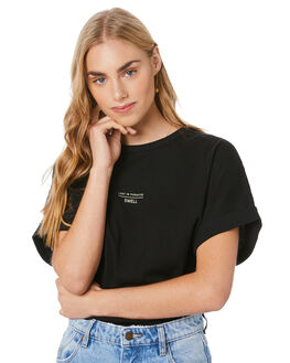 BLACK WOMENS CLOTHING SWELL TEES - S8204001BLACK