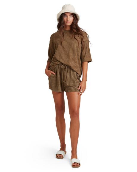 KHAKI WOMENS CLOTHING BILLABONG TEES - BB-6517184-KHA