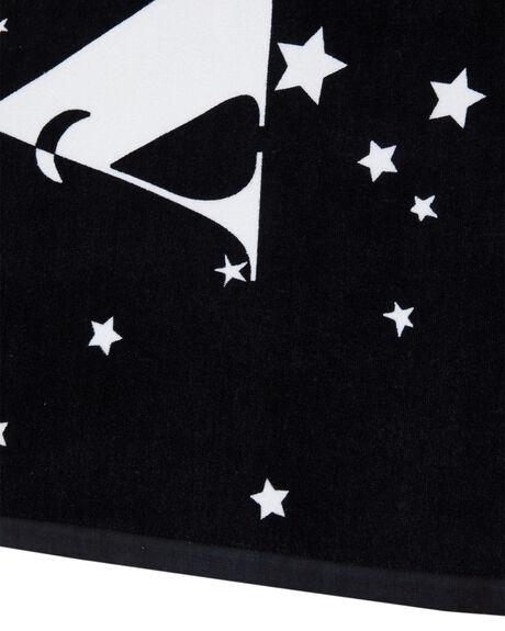 BLACK WOMENS ACCESSORIES RUSTY TOWELS - TWL0171BLK