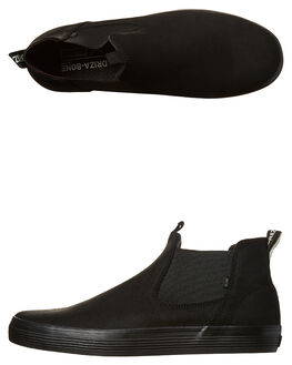 BLACK MENS FOOTWEAR GLOBE BOOTS - GBDOVER-BLK