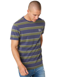 WASHED NAVY MENS CLOTHING RIP CURL TEES - CTETM29741