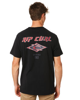 BLACK MENS CLOTHING RIP CURL TEES - CTENS20090