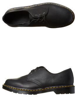 TUMBLED BLACK MENS FOOTWEAR DR. MARTENS FASHION SHOES - SS21144001BLKM