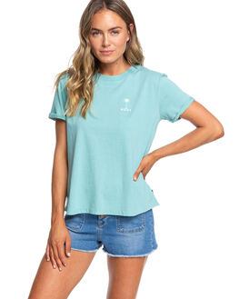 NILE BLUE WOMENS CLOTHING ROXY TEES - ERJZT04780-BHT0