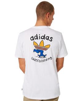 WHITE MENS CLOTHING ADIDAS TEES - DH3934WHT